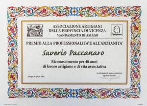 Paccanaro Riconoscimenti 1