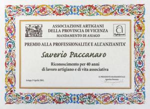 Paccanaro Riconoscimenti 2
